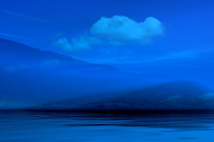 Night blue landscape